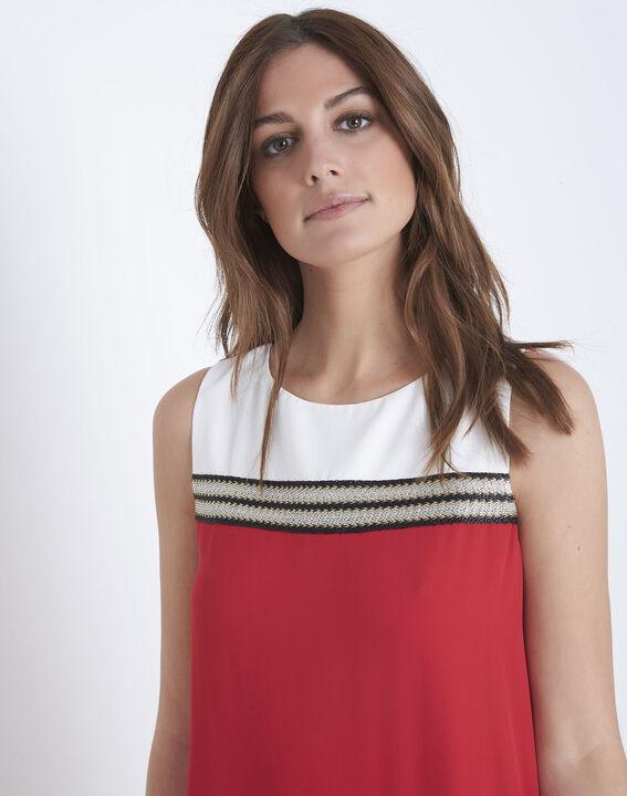 Robe rouge détails lurex Isola (3) - Maison 123