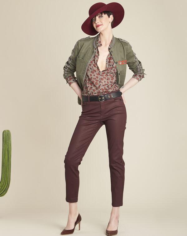 Lichtgroene blouse met camouflageprint Canelle (1) - 37653