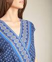 Marineblauwe jumpsuit in wikkelmodel met etnische print Planete PhotoZ | 1-2-3