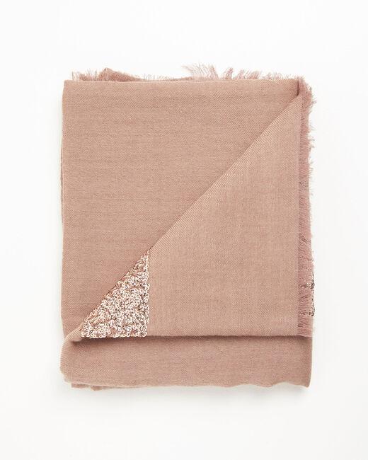 Foulard rose sequins en laine mélangée Fiona (1) - 1-2-3
