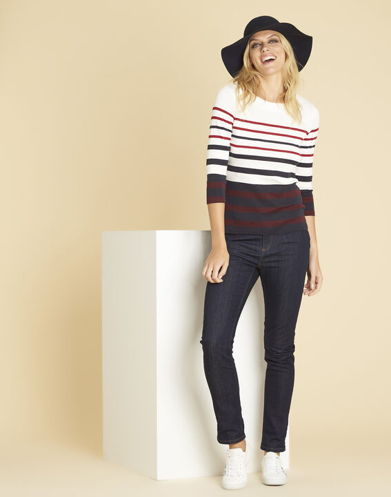 Gasayat red T-shirt with stripes (2) - 1-2-3