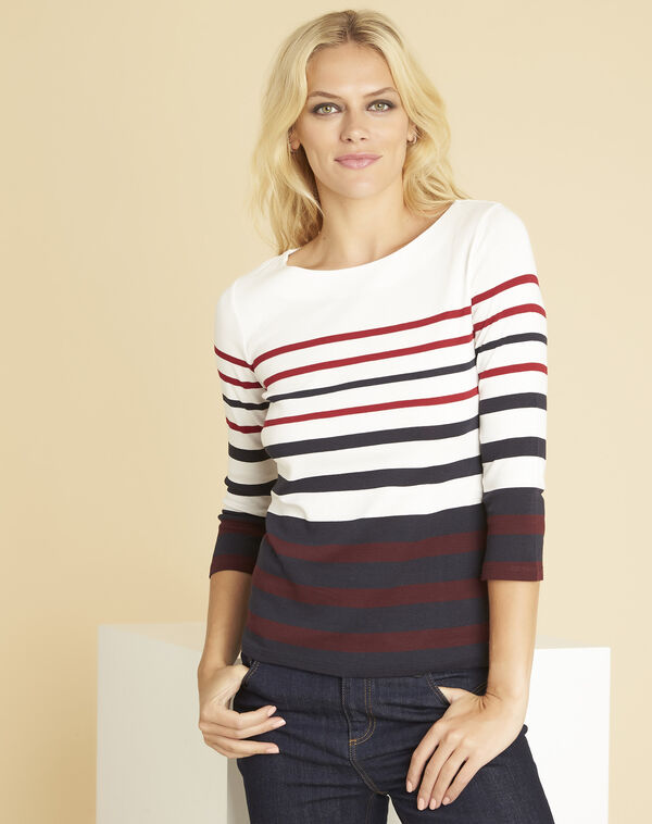Gasayat red T-shirt with stripes (1) - 1-2-3
