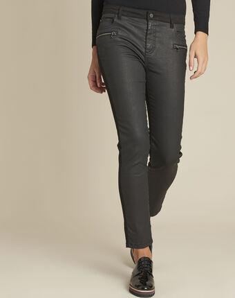 Vendome black bi-material coated 7/8 jeans black.