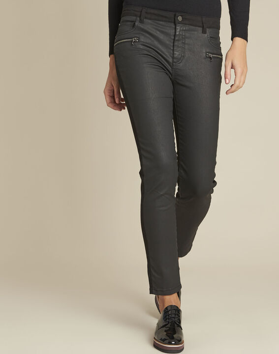 Beschichtete schwarze 7/8 Jeans Vendome PhotoZ | 1-2-3