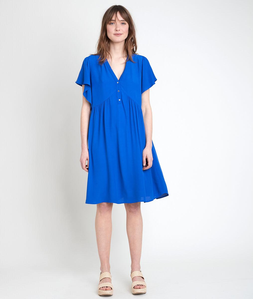 Robe en viscose recyclée bleue Callo PhotoZ | 1-2-3
