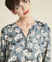 Marineblaue Bluse mit Blumenprint Clap PhotoZ | 1-2-3