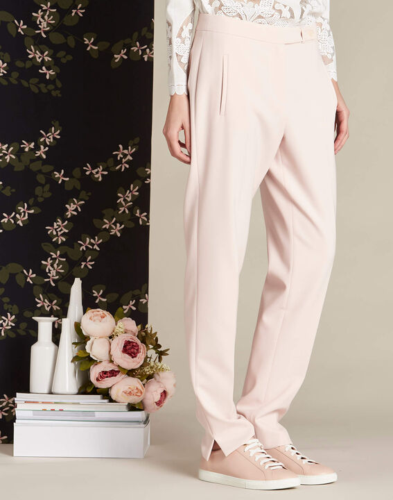 Lara nude slim-cut fitted trousers (3) - 1-2-3