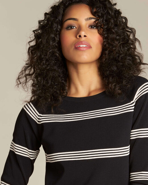 Nuage black striped sweater (2) - 1-2-3