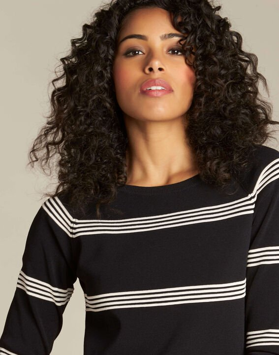 Nuage black striped sweater (1) - 1-2-3
