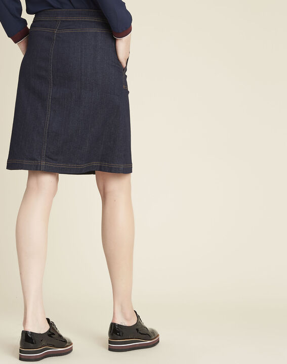 Ambre denim skirt with buttons on the front (4) - 1-2-3