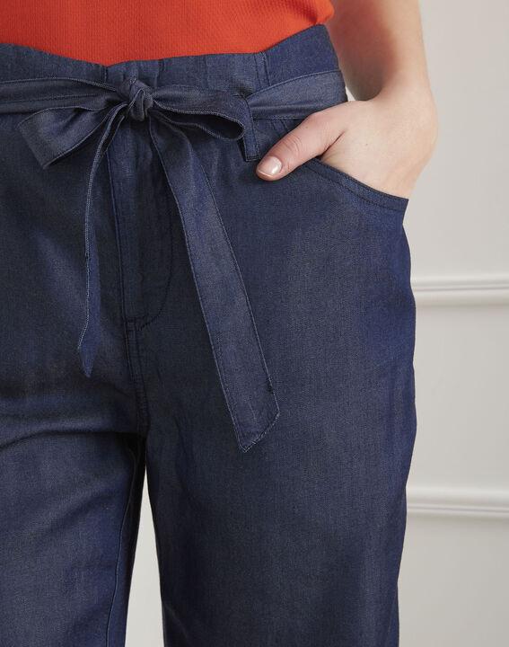 Pantalon bleu fluide ceinturé Gabriel (3) - Maison 123