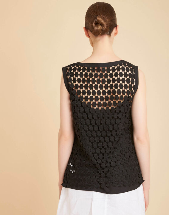 Guimauve black lace openwork top (4) - 1-2-3