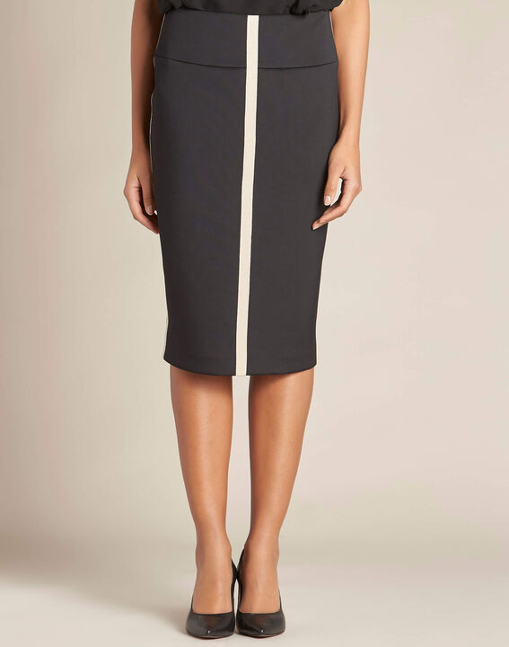 Lotus black skirt with contrasting trim (3) - 1-2-3