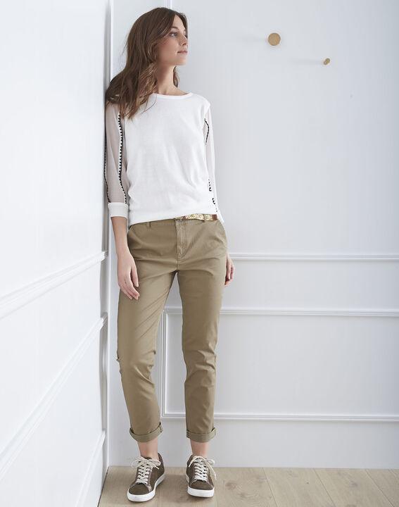 Pantalon kaki chino ceinture fantaisie Francis (1) - Maison 123