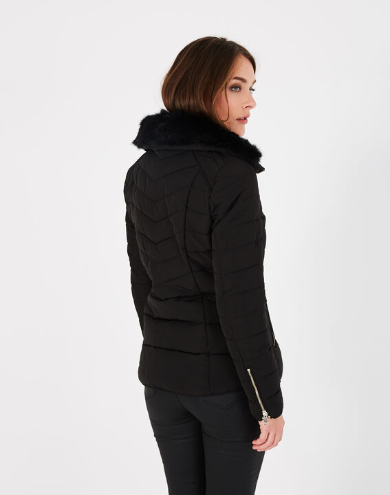 Laure short black puffer jacket (4) - 1-2-3