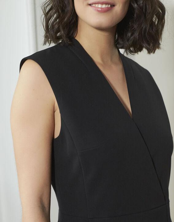 Zwarte jurk uit crêpe Dafne (3) - 37653