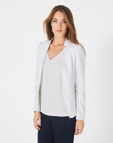 Veste blanche piquée Bea (3) - 1-2-3