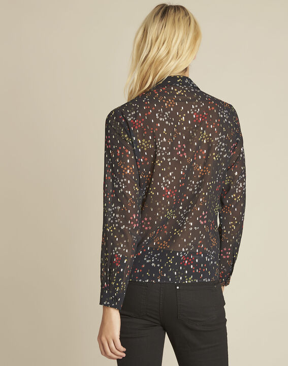 Corentine black printed blouse (4) - 1-2-3
