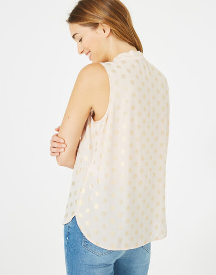 Diana top with shimmery polka dots (5) - 1-2-3