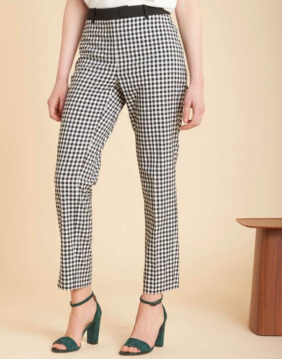 Pantalon imprimé vichy Rubis (3) - 1-2-3
