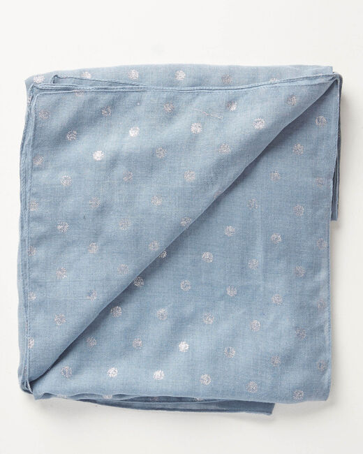 Arthus sky blue scarf with polka dots (2) - 1-2-3
