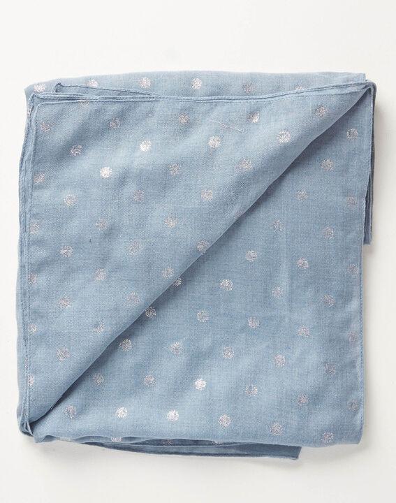 Foulard bleu ciel à pois Arthus PhotoZ | 1-2-3