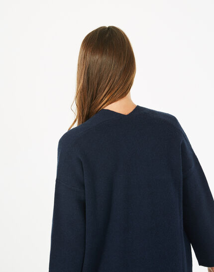 Panda long navy blue jacket (4) - 1-2-3