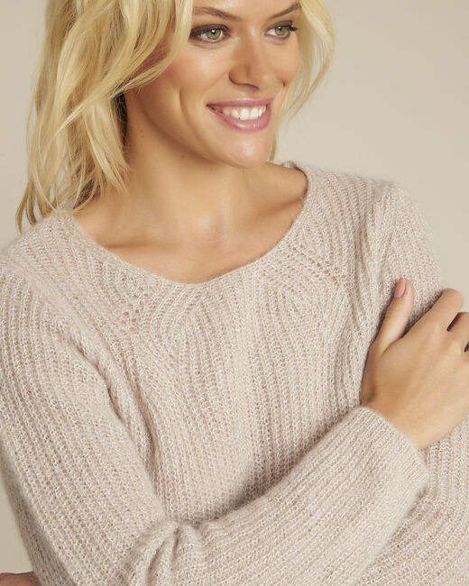 Bello pink mohair mix pullover (2) - 1-2-3