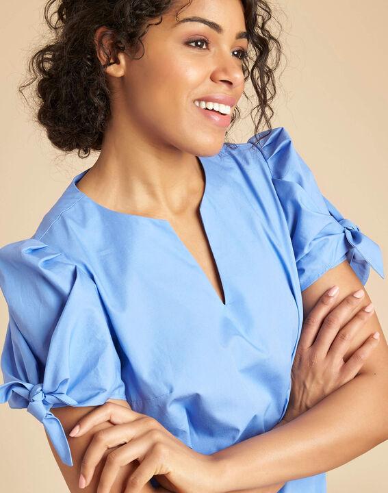 Robe bleu ciel en coton manches fantaisies Pop PhotoZ   1-2-3