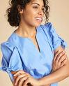 Robe bleu ciel en coton manches fantaisies Pop (1) - 1-2-3