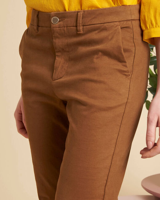 Valentin chestnut chino trousers (2) - 1-2-3