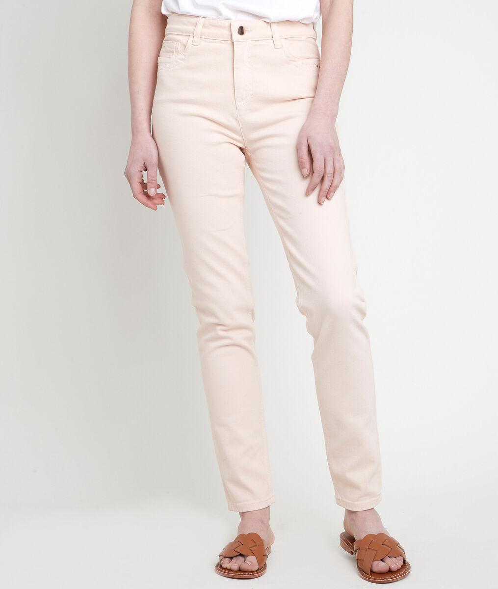 L'iconique slim jean en coton recyclé pêche Suzy PhotoZ   1-2-3