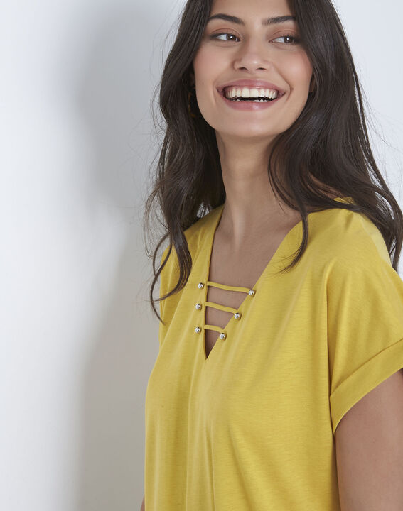 Tee-shirt anis laçage Papeete (3) - Maison 123