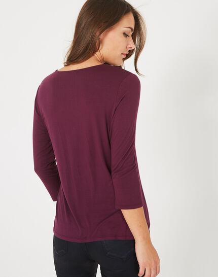 Tee-shirt cassis Barbara (4) - 1-2-3