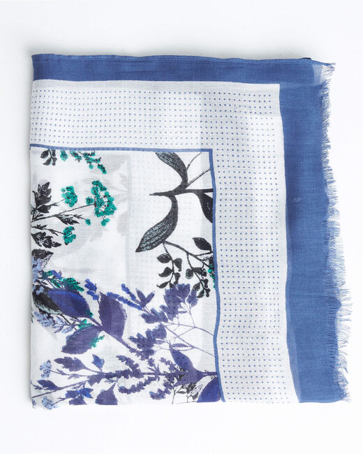 Adriane blue garden printed scarf (1) - 1-2-3