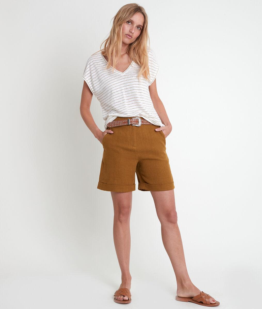 Tee-shirt rayé en lin mélangé Isadora PhotoZ | 1-2-3