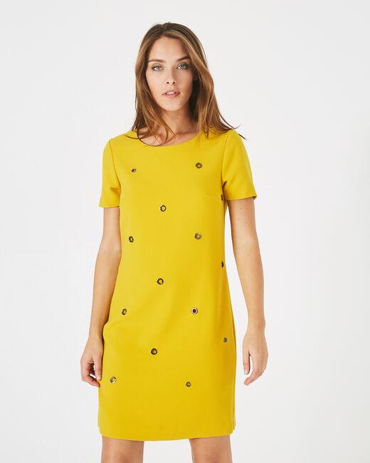 Adélie yellow dress with eyelets (1) - 1-2-3