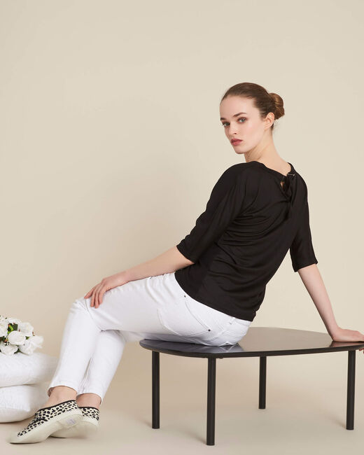 Guillem black blouse with bow at the back (1) - 1-2-3