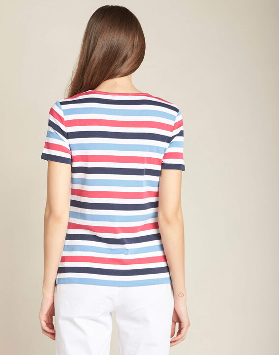 Embruns navy blue striped T-shirt (4) - 1-2-3