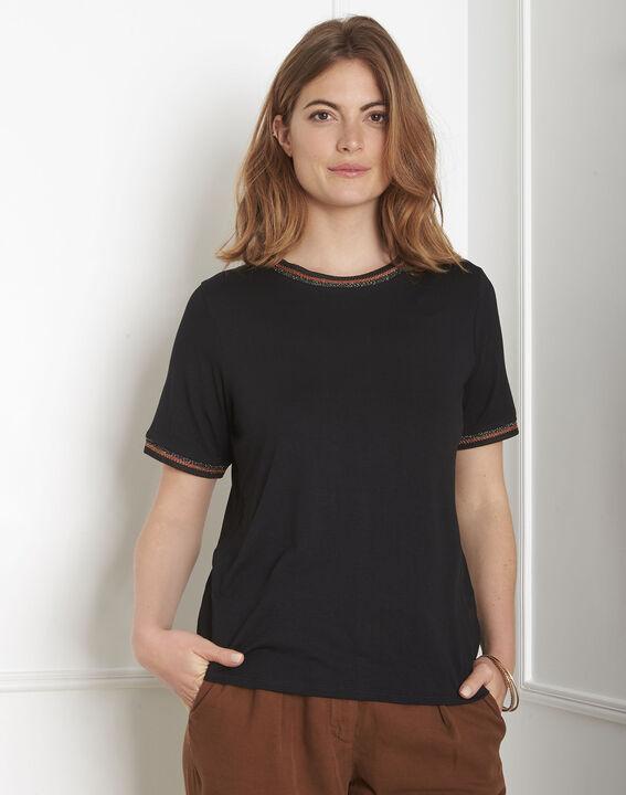 Tee-shirt noir détails ruban Proove (2) - Maison 123