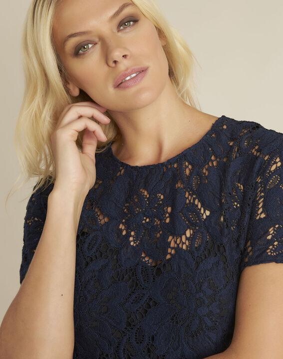 Donkerblauwe kanten jurk Nida (2) - 37653