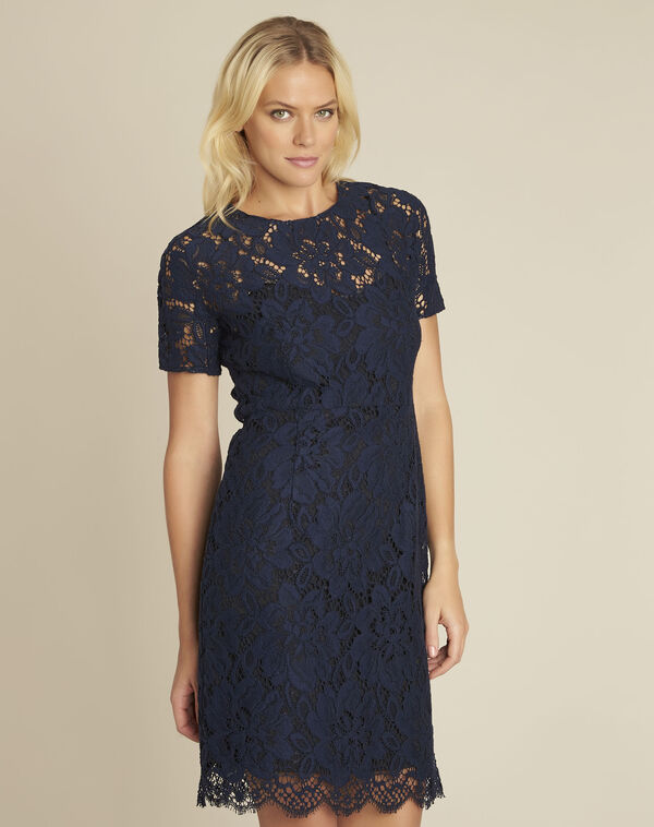 Nida navy lace dress (1) - 1-2-3