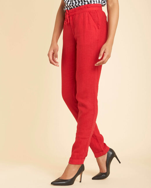 Pantalon rouge en lin Joris (2) - 1-2-3