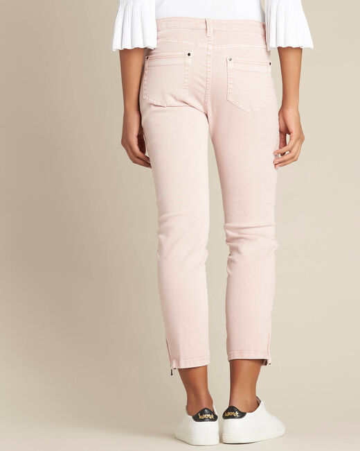 Opera slim-cut pink jeans with ankle zips (2) - 1-2-3