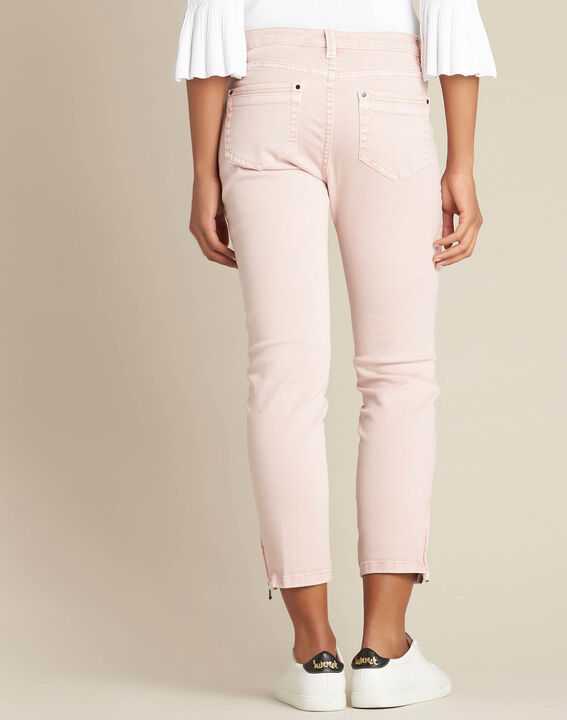 Opera slim-cut pink jeans with ankle zips (4) - 1-2-3
