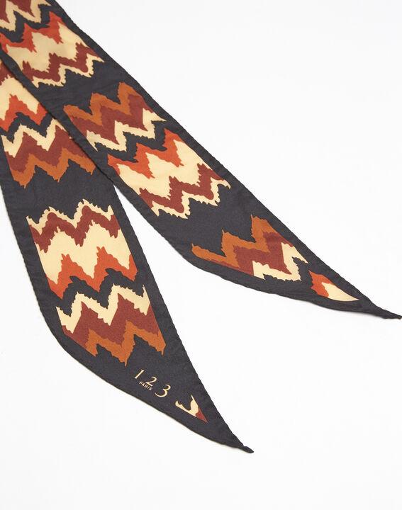 Fanette bohemian print silk tie belt (2) - 1-2-3