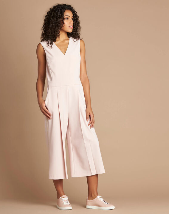 Pomme pink sleeveless cropped jumpsuit (2) - 1-2-3