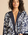 Veste kimono bleu imprimés floraux Ugo (1) - 1-2-3