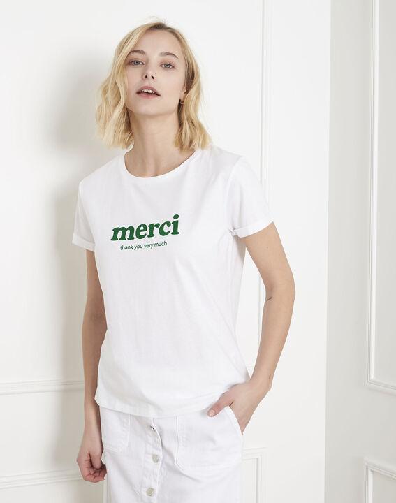 Tee-shirt blanc message merci Polite (1) - Maison 123
