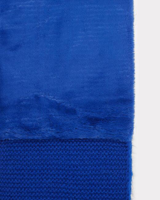 Echarpe bleu roi ronde en laine mélangée Tigresse (2) - 1-2-3